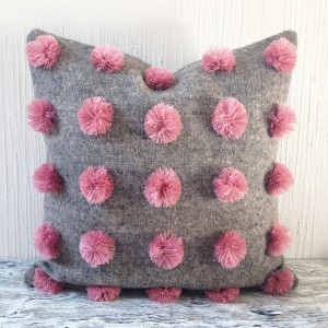 1_orchid_and_grey_backstrap_wool_pompom_cushion